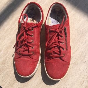 BORN Red Leather Sneakers